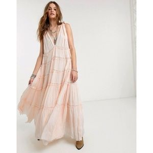 NWT Free People Lily of the Valley Maxi Dress S
